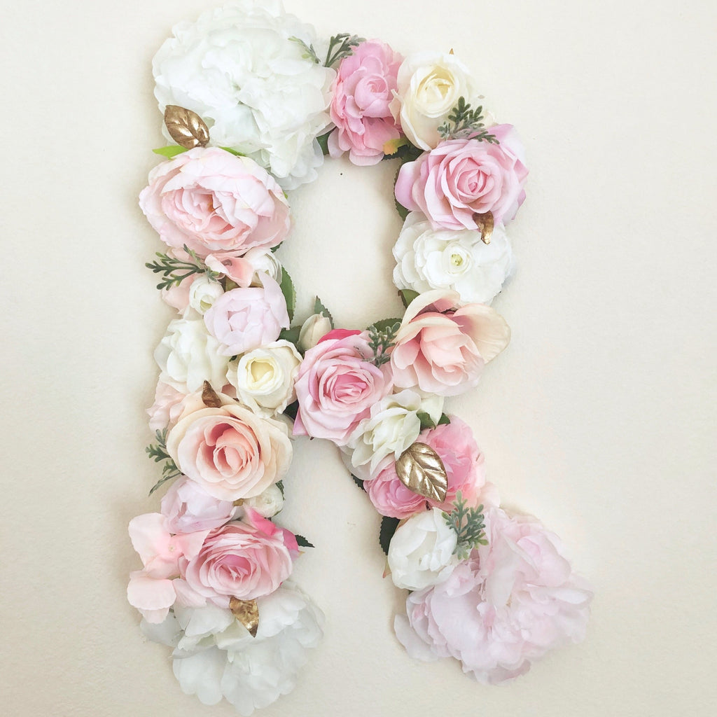 floral letter flower letter nursery decor floral nursery birthday girl decor floral birthday party theme