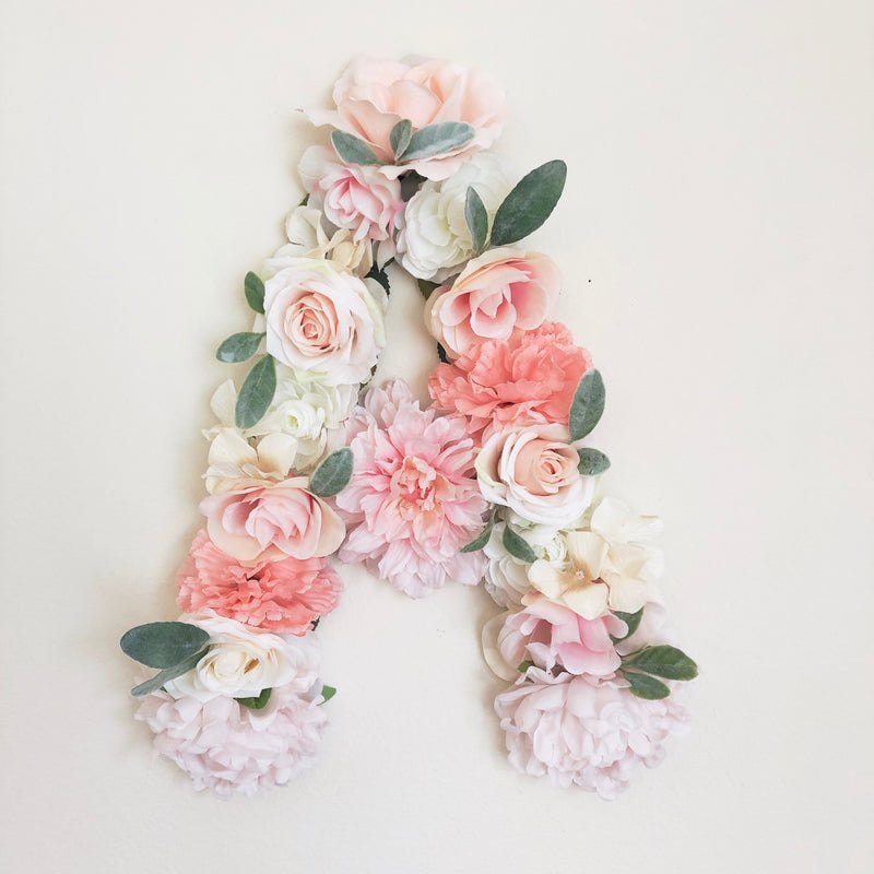 floral letter boho wall decor boho nursery boho baby shower boho bridal shower