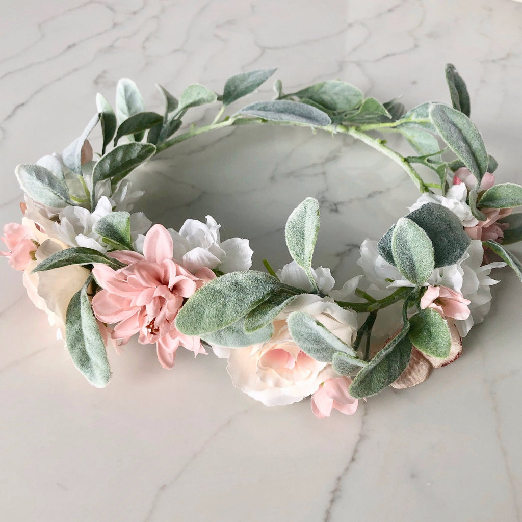 maternity flower crown baby shower flower crown