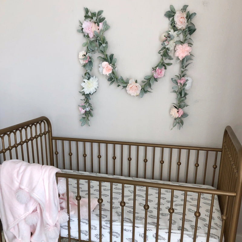 baby shower gift girl baby shower decor bridal shower decor nursery decor girl nursery floral garland