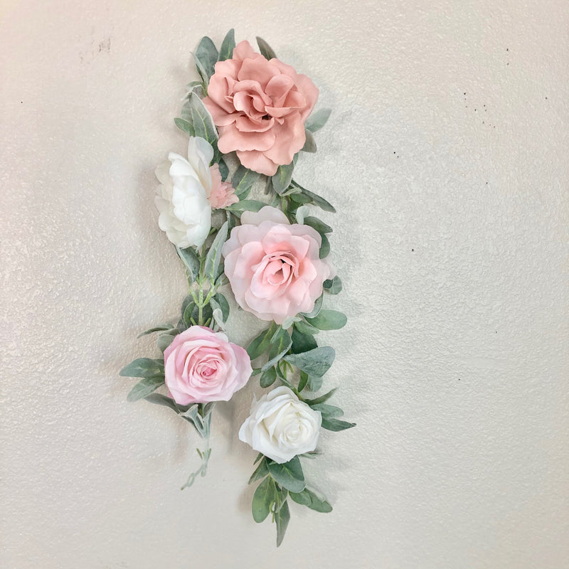 custom garland floral garland pink garland rose garland cabbage rose garland decor