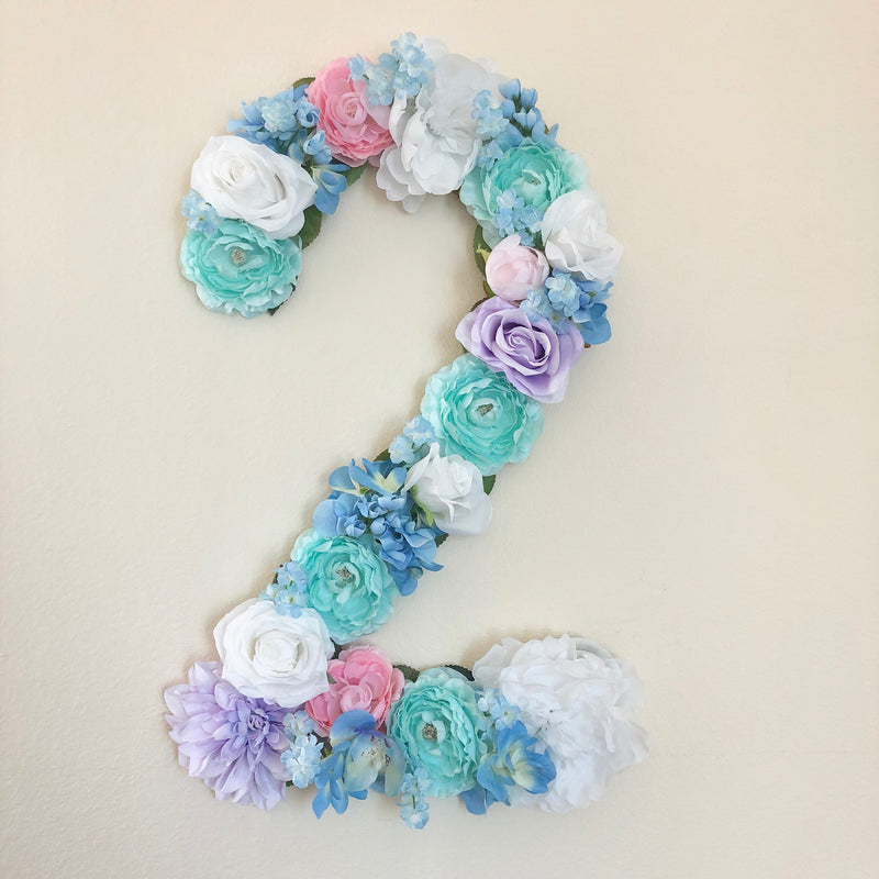 mermaid birthday decor birthday number 2nd birthday girl