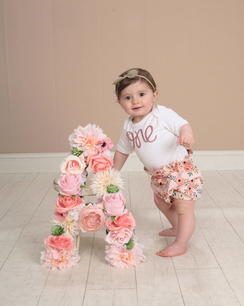 first birthday photo prop 1st birthday photo floral letter flower letter decor