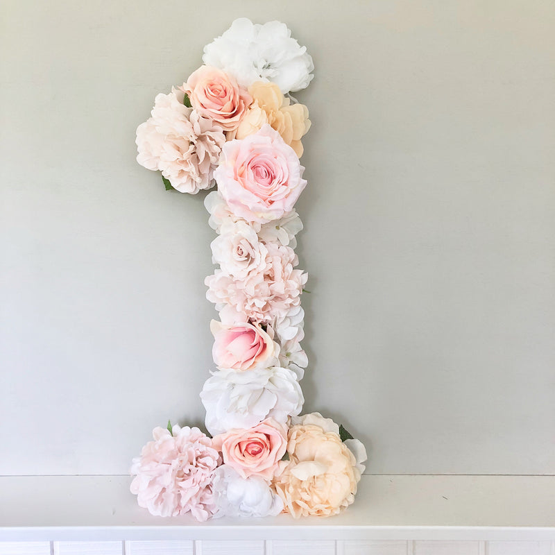 blush pink birthday decor