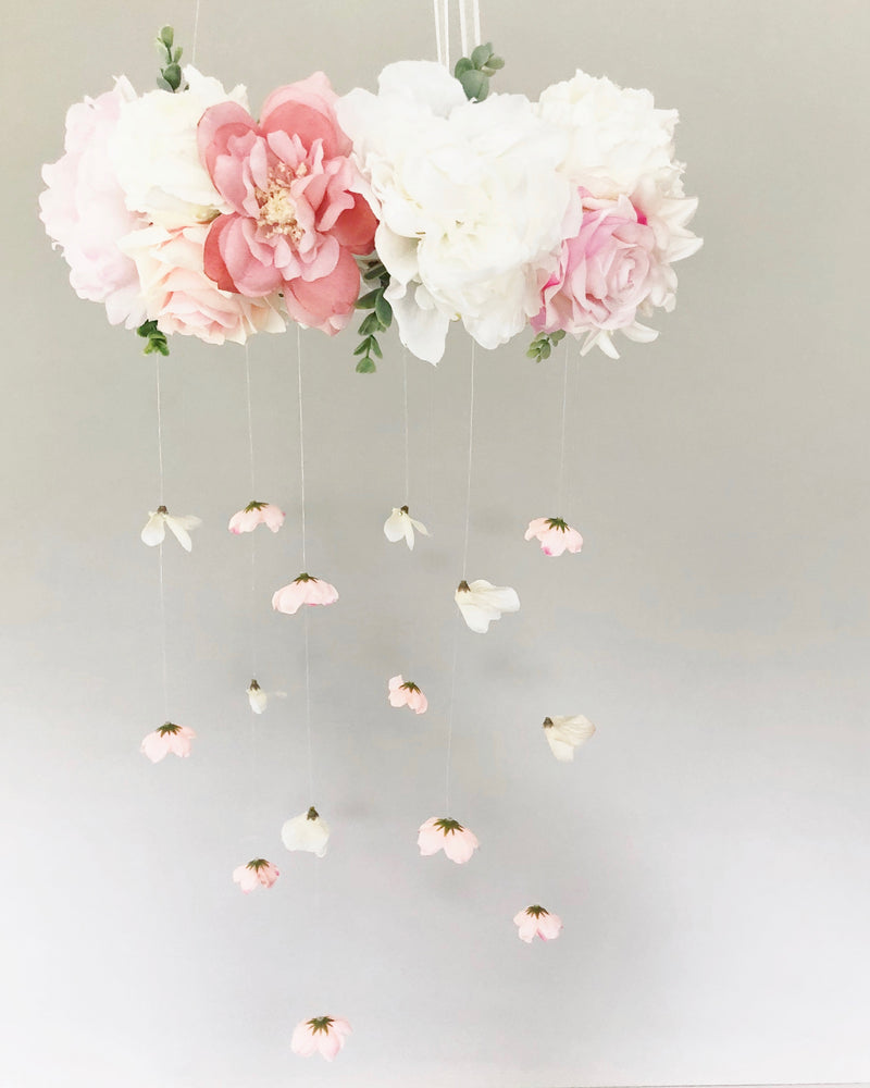 pink and white mobile coral mobile rose mobile