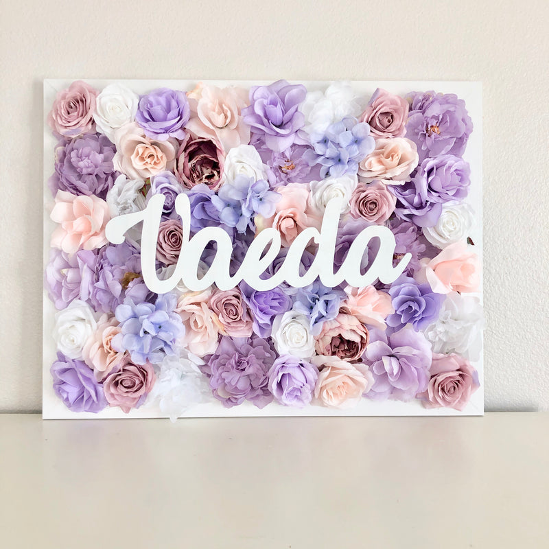 Girl Nursery Decor Girl, Flower Wall Hanging, Floral Letter, Floral Wall Hanging, Baby Name Sign, Baby Room Decor, Blush Nursery Decor Sign