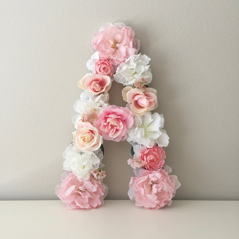 floral letter flower letter girl nursery decor