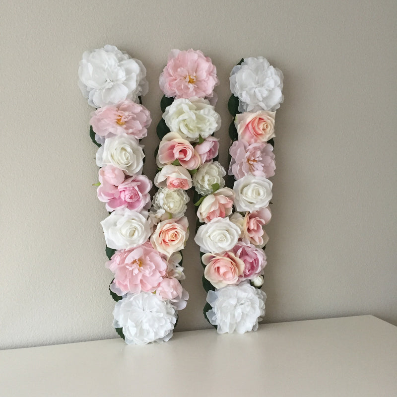 floral letter flower letter nursery decor blush nursery blush decor