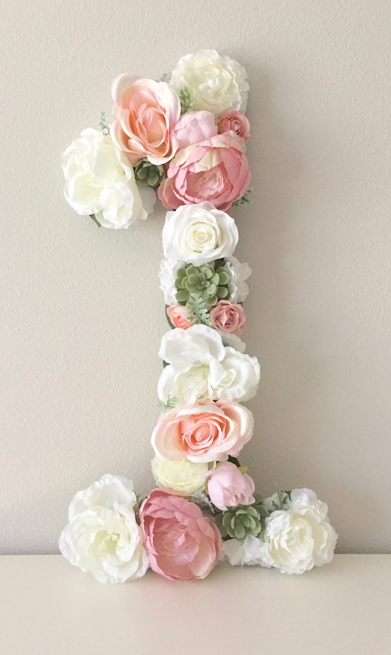 boho birthday decor birthday number floral number