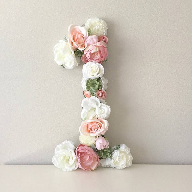 birthday number floral number flower number