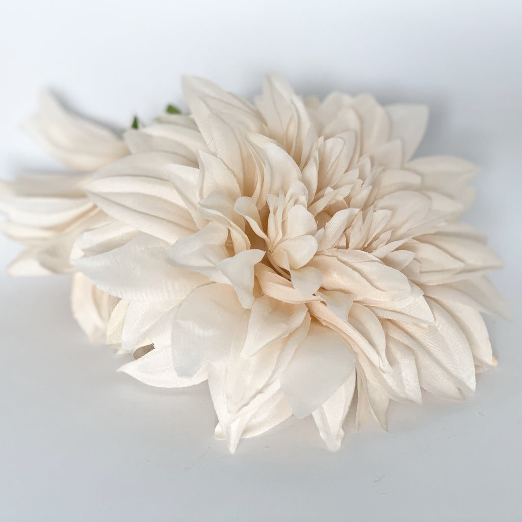"6"" Large Beige Dahlia Artificial Dahlia Flower Artificial Flower Wedding Dahlia Party Decor Silk Flower Dahlia Shower Flower Wedding Flower"