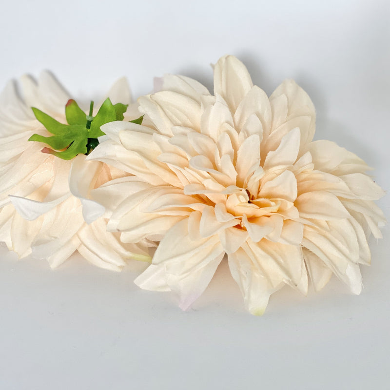 "6"" Large Light Peach Dahlia Artificial Dahlia Silk Flower Dahlia Wedding Peach Wedding Flower Dahlia Party Dahlia Artificial Peach Flower"