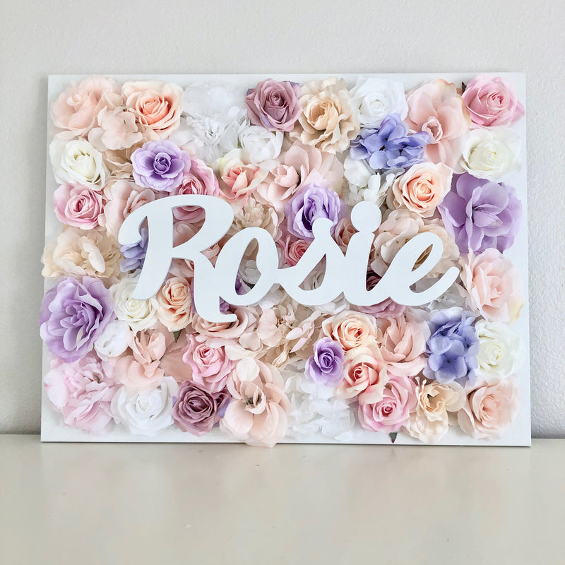 Flower Wall Decor, Name Sign Over Crib, Flower Letter, Floral Letter, Nursery Name Sign, Baby Girl Nursery Decor, Floral Nursery Decor, Boho