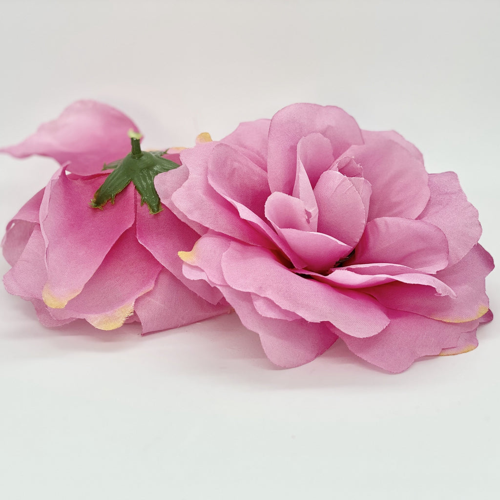 "5"" Large Fuchsia Pink Rose Large Hot Pink Rose Fuchsia Silk Flower Fuchsia Artificial Flower Fuchsia Wedding Flower Fuchsia Party Flower"