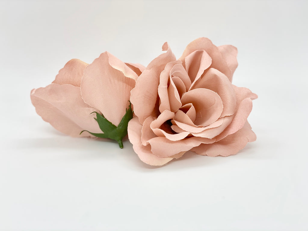 "4"" Mauve Open Rose"