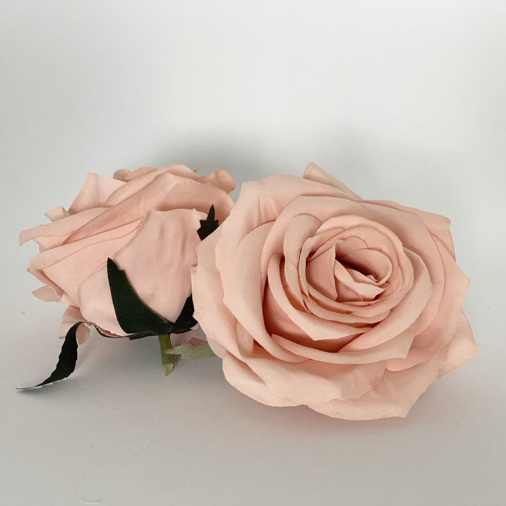 "3.5"" Peachy Mauve Rose Mauve Artificial Rose Mauve Artificial Flower Wedding Dusty Peach Artificial Flower Mauve Silk Flower Wedding Flower"