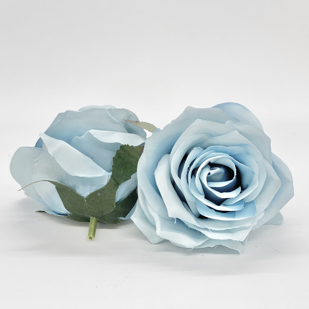 "3.5"" Dusty Tiffany Blue Rose Blue Artificial Rose Blue Silk Flowers Dusty Blue Flowers Dusty Blue Wedding Flower Tiffany Blue Wedding Flower"