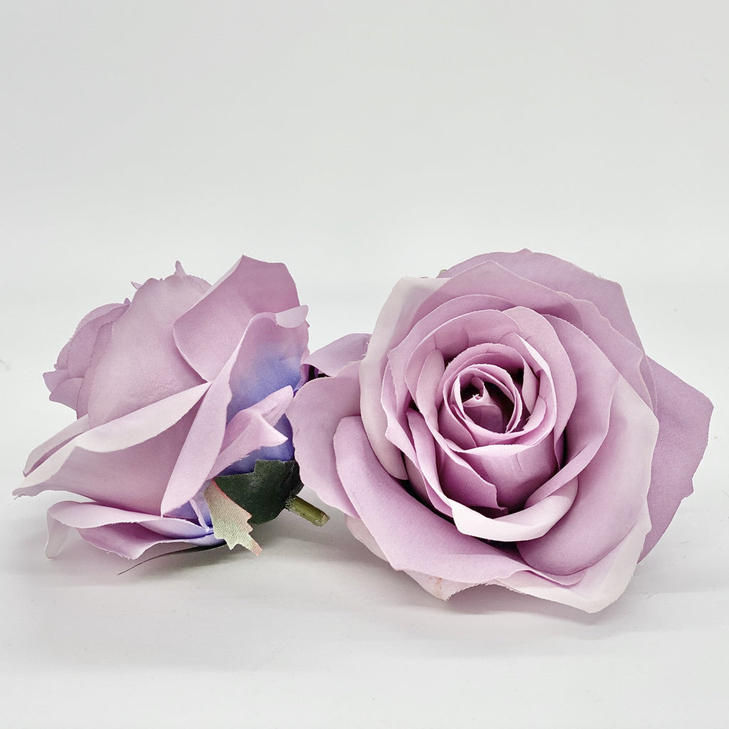 "3.5"" Artificial Dusty Lavender Rose Light Mauve Purple Rose Artificial Lavender Rose Light Purple Rose Dusty Purple Rose Artificial Rose"