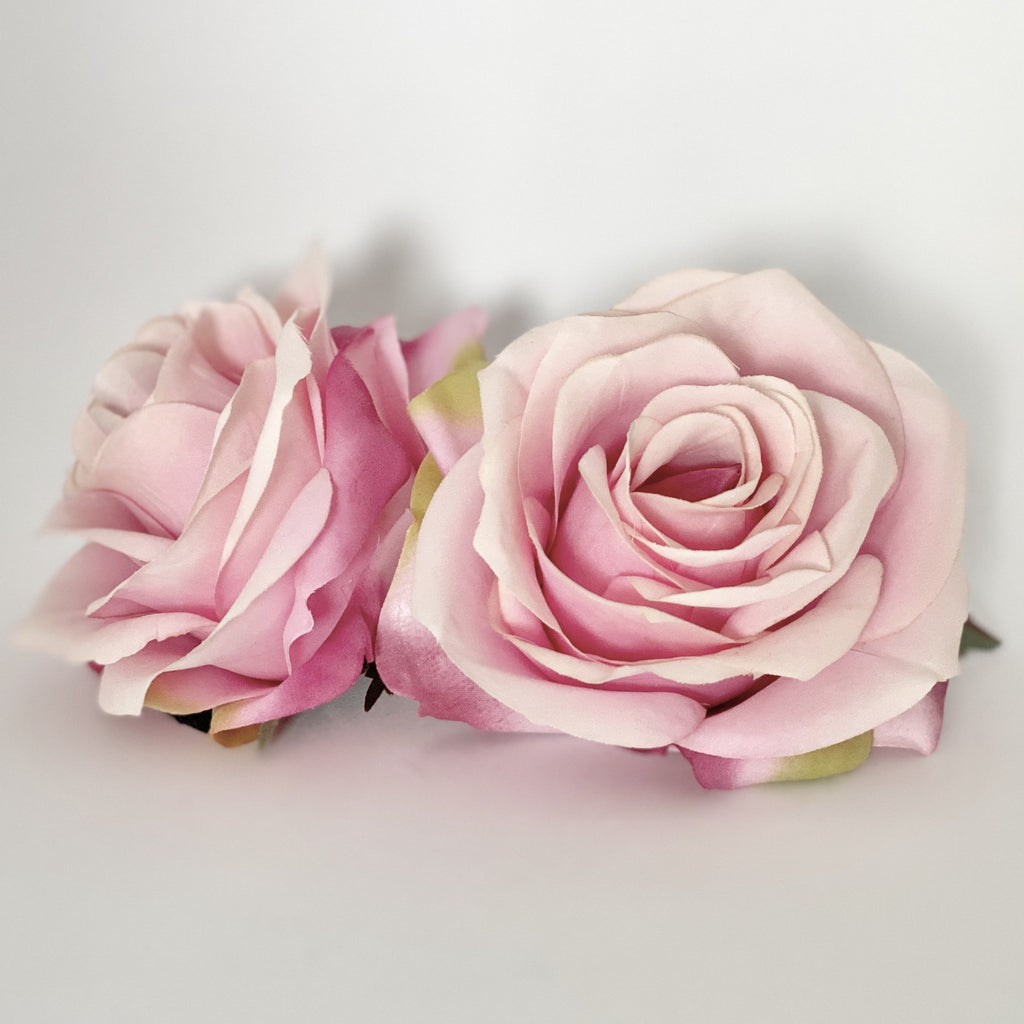 "3.5"" Two Tone Pink Rose Artificial Pink Rose Artificial Rose Pink Silk Flower Medium Pink Artificial Flower Pink Wedding Flower Pink Flower"