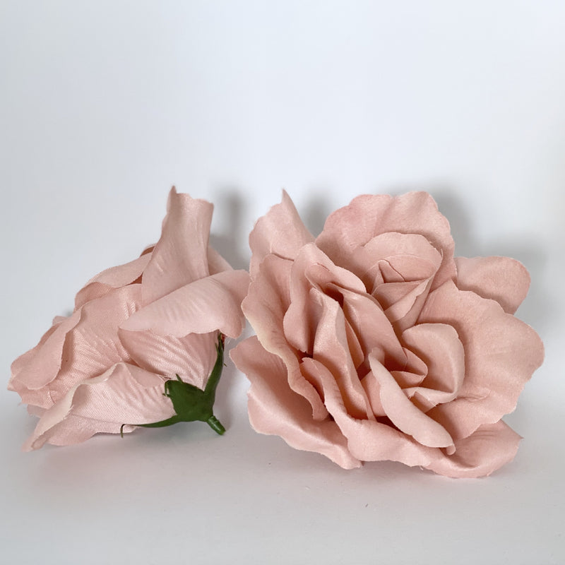"4"" Artificial Rose Large Dusty Pink Rose Large Mauve Rose Large Open Rose Dusty Mauve Rose Dusty Mauve Flower Dusty Pink Flower Party Flower"