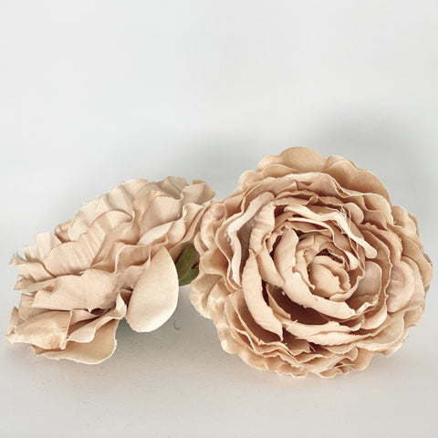 "4"" Dusty Pink and White Peony"