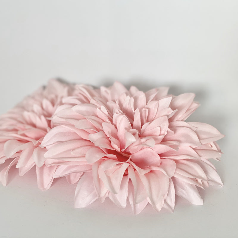 "6"" Large Baby Pink Dahlia Large Artificial Dahlia Wedding Flower Dahlia Silk Flower Dahlia Cake Flower Dahlia Party Decor Baby Shower Flower"