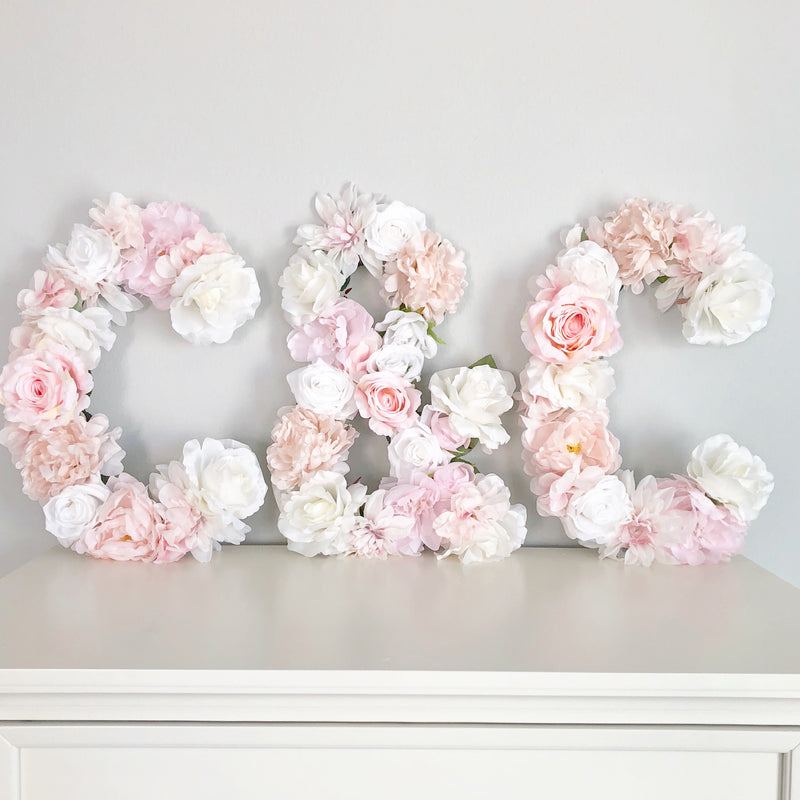 bridal shower decor wedding shower decor engagement party decor wedding monogram floral letter