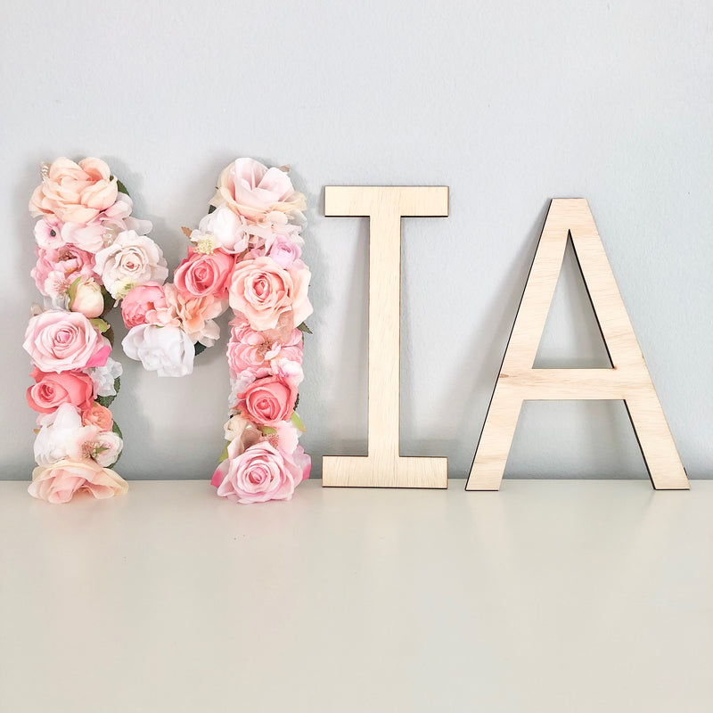 floral letter flower letter nursery name sign girl name sign flower wall name sign