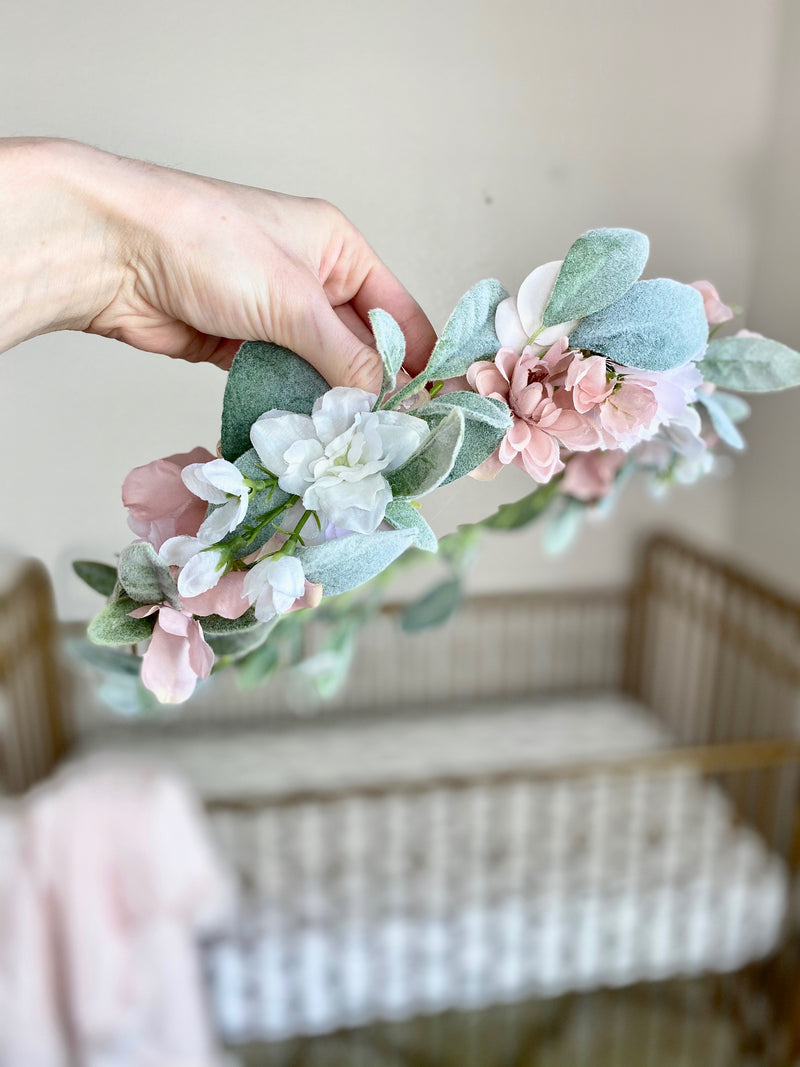 Baby Shower Flower Crown Adult, Bridal Shower Bride Flower Crown Wedding, Custom Flower Crown, Boho Flower Crown, Bridesmaid Flower Crown