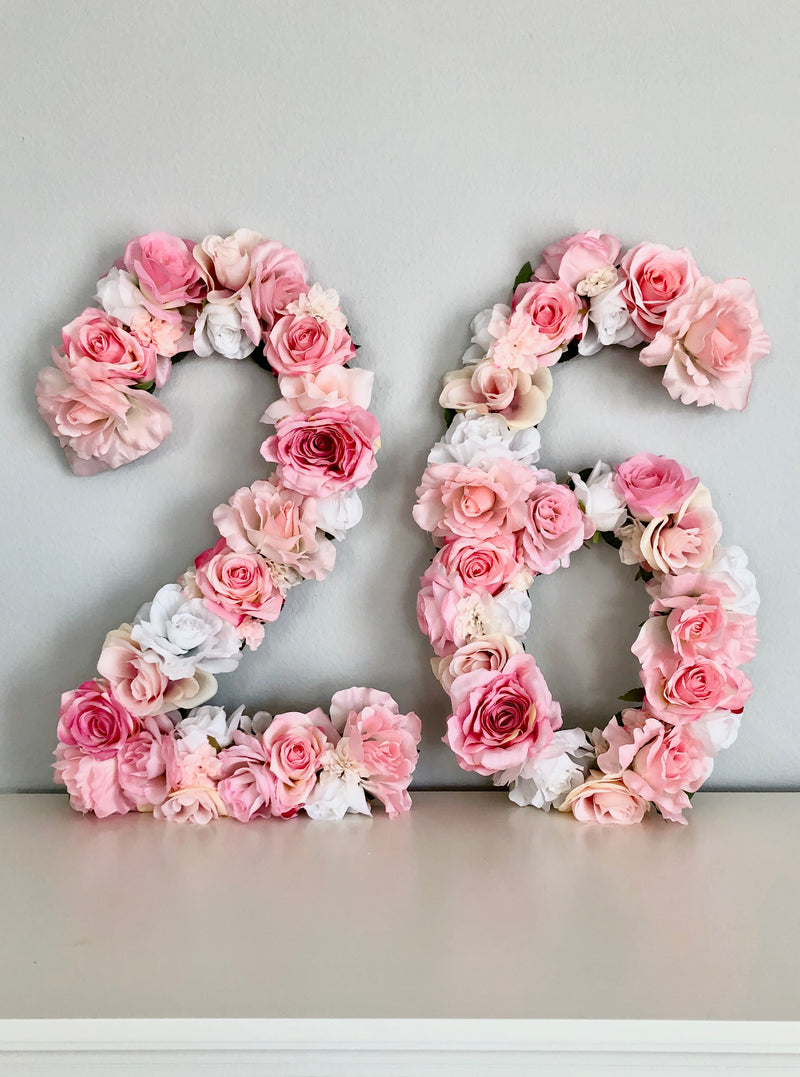 floral number birthday number flower number