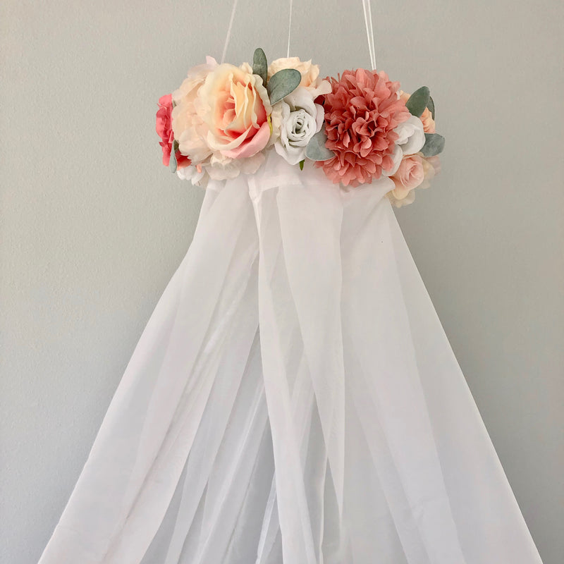 shabby chic nursery decor canopy
