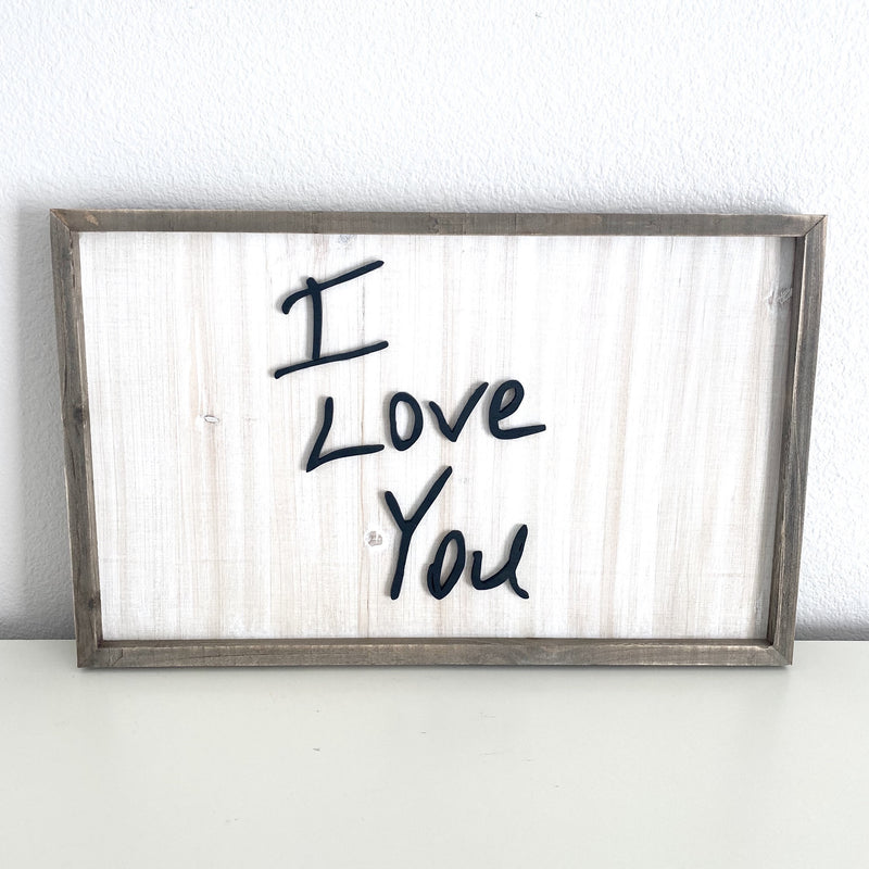 Personalized Handwriting Sign