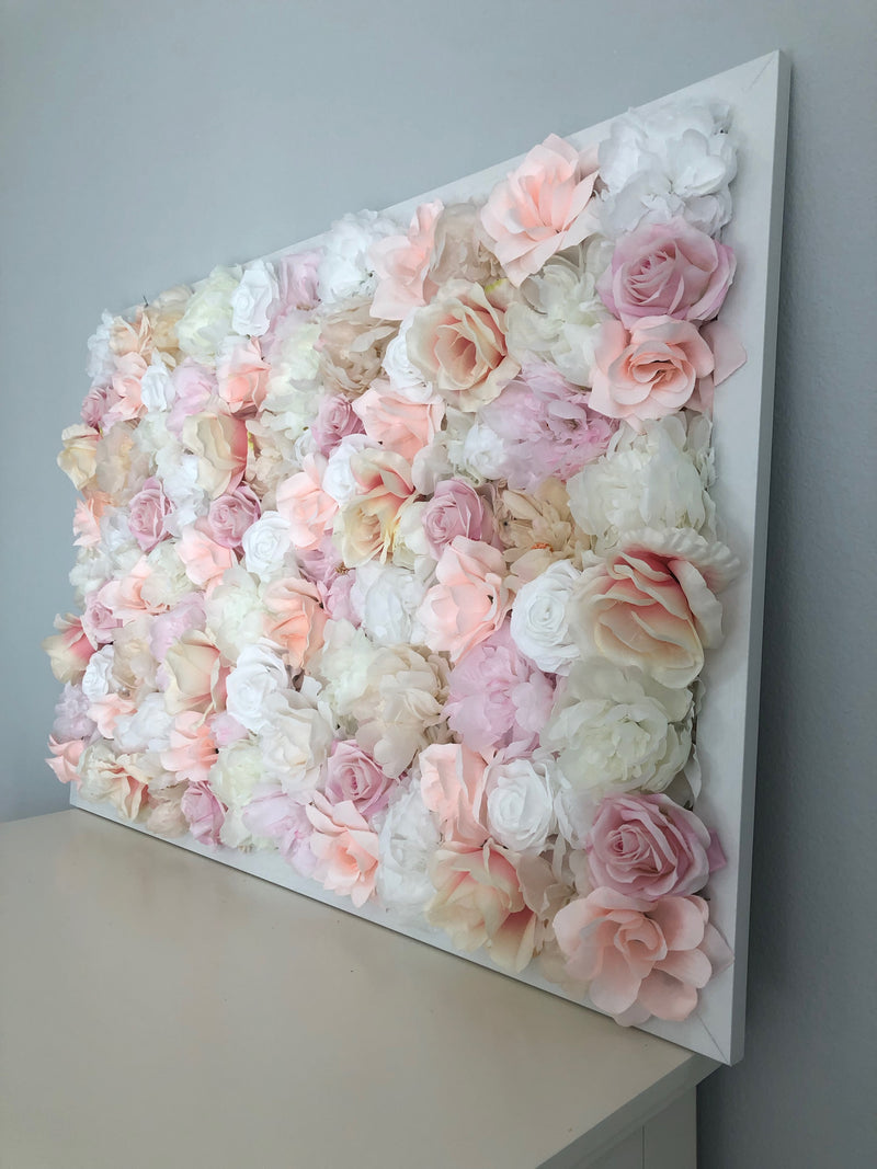 custom flower wall blush flower wall floral wall hanging flower wall hanging peony wall decor rose wall decor girl nursery decor girl