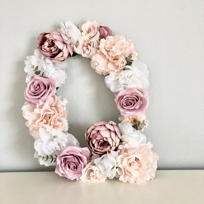 baby shower decor bridal shower decor floral letter flower letter baby name sign