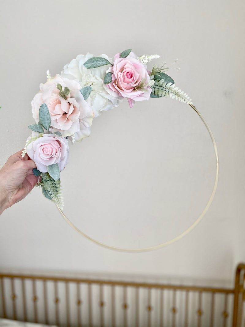 Floral Hoop Wreath