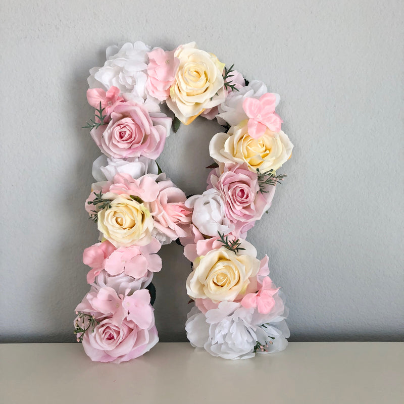 floral letter nursery letter baby shower decor baby shower sign baby shower gift