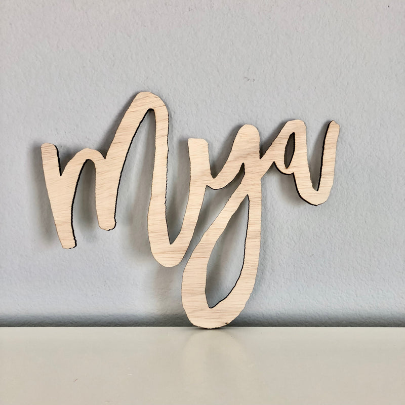 customized name wall art