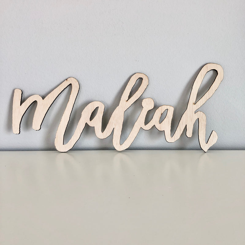 wood name sign art