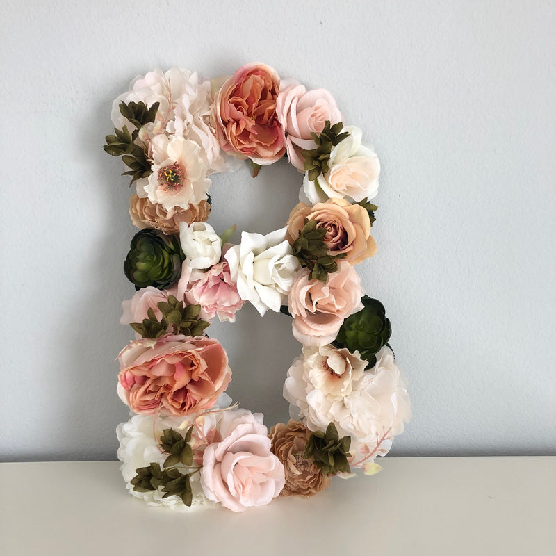 floral letter flower letter neutral nursery boho nursery boho bridal shower boho baby shower fall baby shower fall bridal shower fall wedding