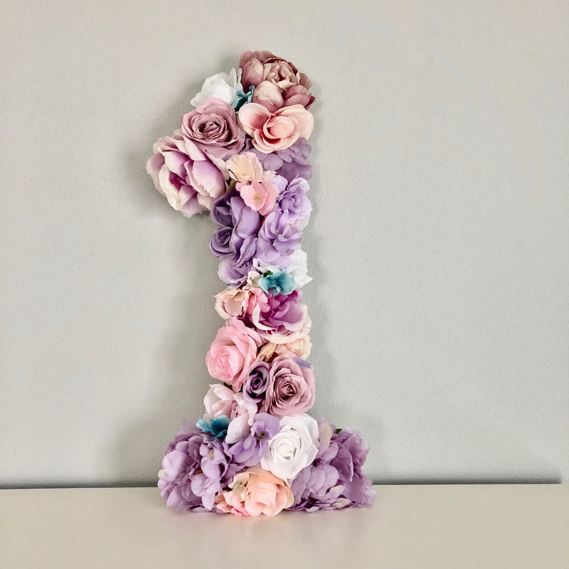 flower number decor birthday number birthday decor