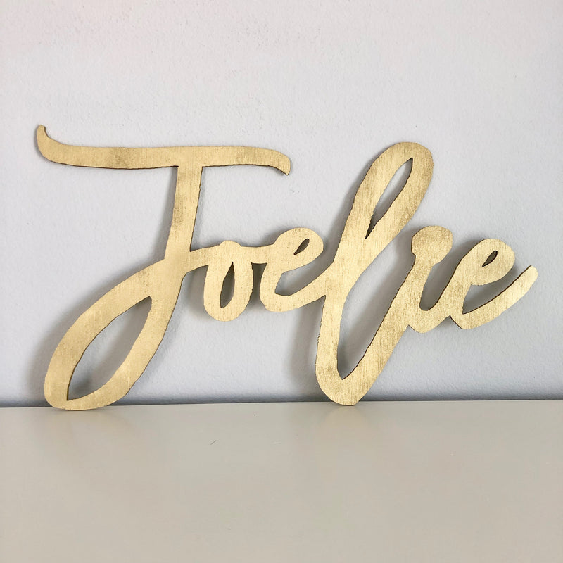 wood name sign baby shower decor