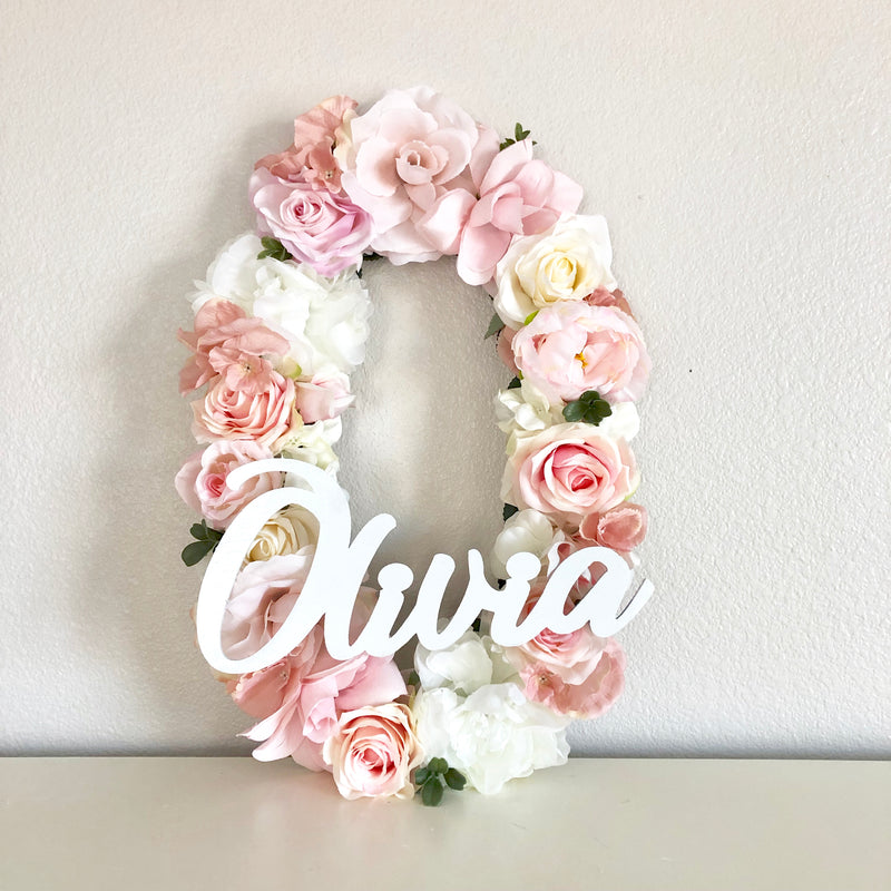 Floral Letter Name Sign  Edit alt text