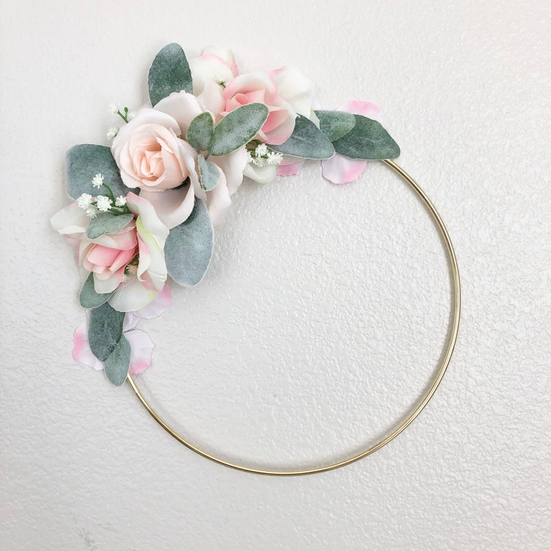 Girl Nursery Wall Decor Girl, Blush Nursery Decor Floral Nursery, Floral Hoop Wreath Decor, Bridal Shower Decor, Baby Shower Decor Girl