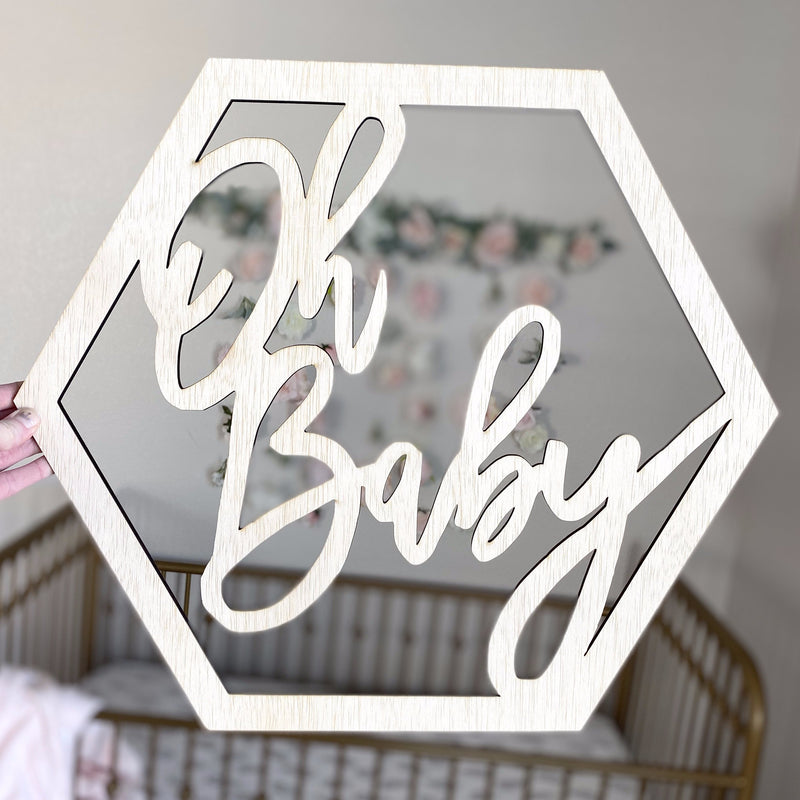 Pregnancy Announcement Photo, Oh Baby Sign, Baby Announcement Prop, Gender Reveal, Maternity Photo, It's a Girl, It's a Boy, Coming Soon
