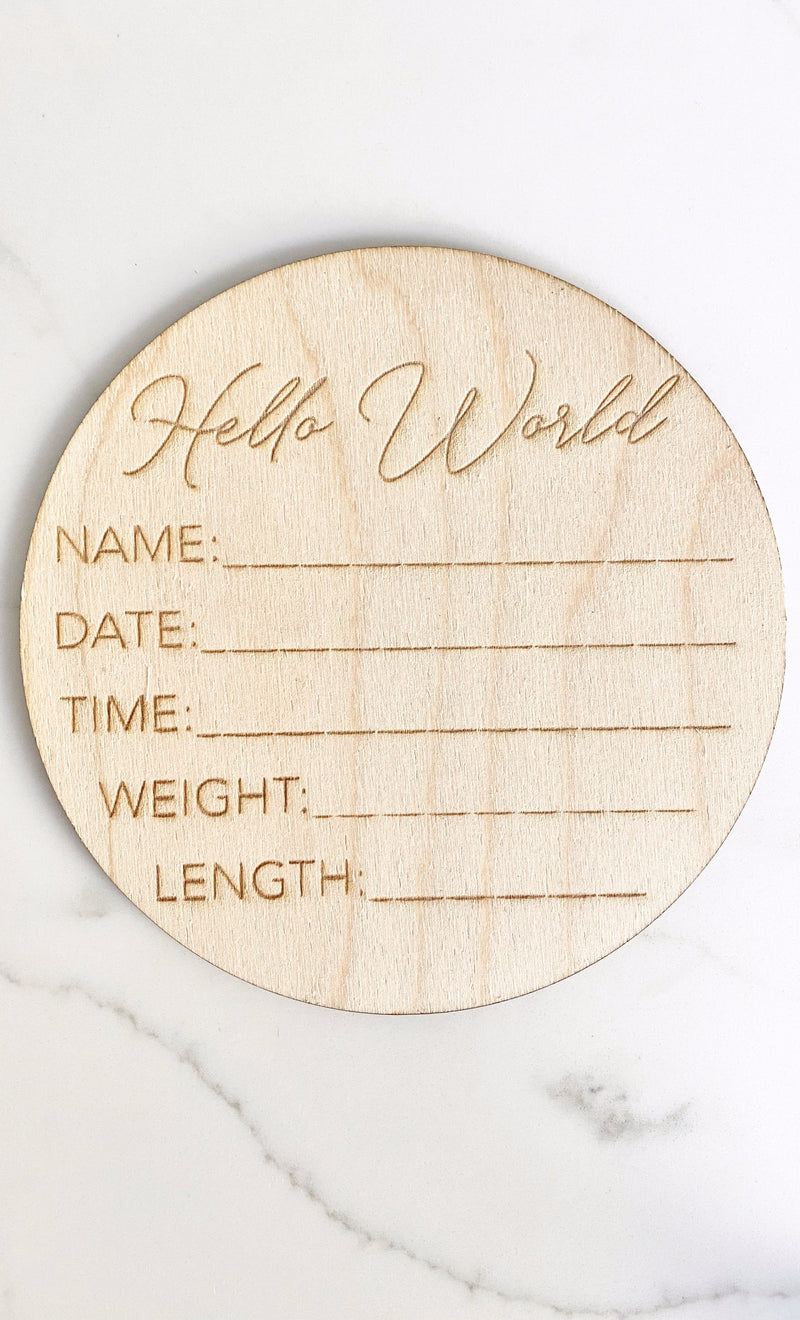 Hospital Birth Announcement Sign, Hospital Announcement Sign, Gender Neutral Baby Shower Gift, Engraved Newborn Stats, Newborn Photo Prop