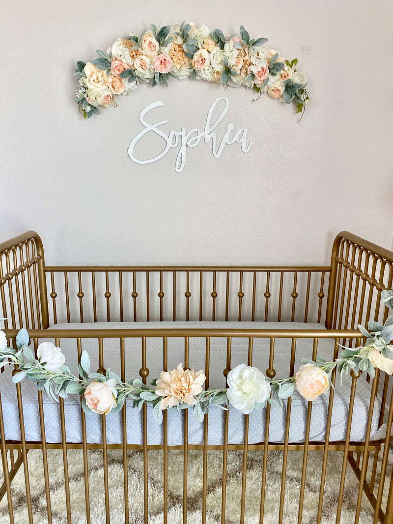 Floral Swag, Greenery Swag, Custom Swag, Highchair Swag, Birthday Swag, Wedding Swag, Bridal Shower Swag, Bridal Swag, Nursery Swag, Wall Swag, Fireplace Swag