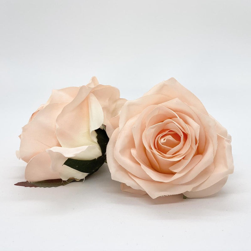 "3.5"" Peach Rose Peach Artificial Rose Light Peach Artificial Flower Wedding Dusty Peach Artificial Flower Peach Silk Flower Wedding Flower"