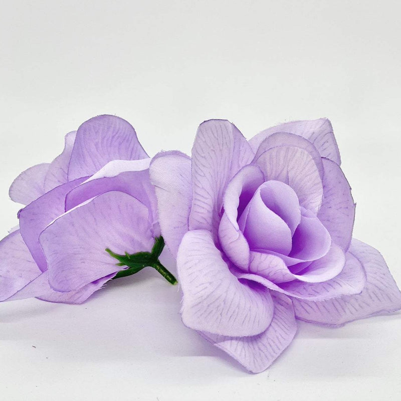 "4.5"" Artificial Lavender Flower Head Lavender Silk Flower Head Lavender Wedding Flower Lavender Cake Flower Light Purple Silk Flower Lilac"