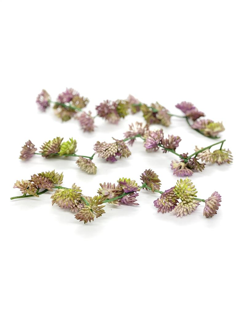 Set of 5 Sedum Succulent Accents Lavender and Green Succulent Accents Flower Crown Accents Flower Crown Greenery for Bouquet Fake Succulent