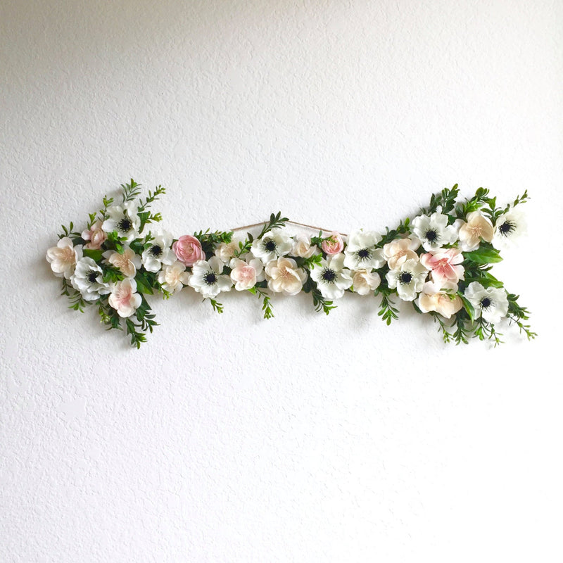 floral arrow boho arrow flower arrow decor room arrow wall art